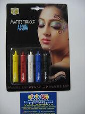 MATITE acqua viso LAVABILI atossico TRUCCO  make-up per carnevale FESTE e PARTY