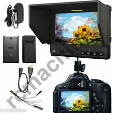 "Lilliput 7"" 663/O/P IPS Peaking Focus HDMI In & Out Monitor+Hot shoe stand+cable"