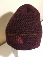 "OS THE NORTH FACE ADULT UNISEX FLEECE EAR BAND ""Wicked"" Beanie - Brown/Maroon"