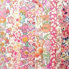 "NEW! *10 Liberty Print Tana Lawn pieces* - each min. 5"" x 5"" - PEACHY PINKS"