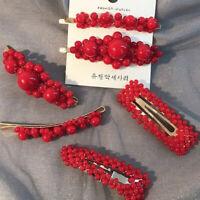 barrette vintage barrettes pearl fleur épingles à cheveux coiffe des bijoux