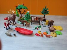 sympa lot pere noel 4155  playmobil ( calendrier , animaux , foret  ) 1006