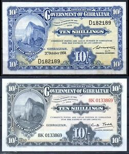 Gibraltar P-17 1958 1 Pounds, 2018 Issued 1 Pound VF, UNC Rare