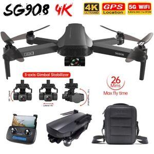 SG908 Pro 2 1.2KM FPV 3-axis Gimbal 4K Camera Wifi GPS RC Drone Quadcopter U