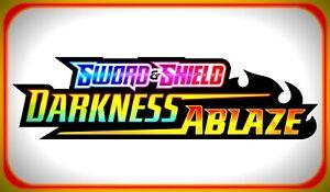 25x Sword & Shield DARKNESS ABLAZE Pokemon Online Booster Code Email TCGO Codes