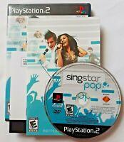 SingStar POP PlayStation 2 PS2 Game Complete