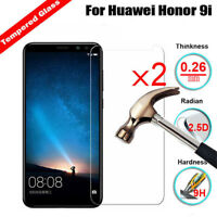 For Huawei Honor 7A 7C 9i 10 V10 2Pcs Clear Tempered Glass Screen Protector Film