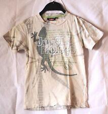 Traffic Jungle Roots kurzärmliges Jungen Kinder T-Shirt Beige Größe 116