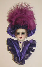 """""""Clearance"""" Unique Creations Lady Victorian Face Mask Wall Hanging Decor"""