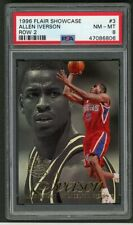 1996 Flair Showcase Row 2 Allen Iverson Rookie Rc #3 PSA 8 NM-MT 76ers HOF