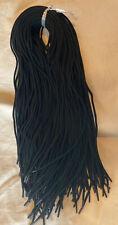 100 Pieces New Black Elastic Laces Clothing , Sweatshirt Hoodie! Wholesale