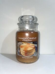 ☆☆MAPLE PANCAKES☆☆LARGE YANKEE CANDLE JAR☆☆FREE EXPEDITED SHIPPING FALL SCENT