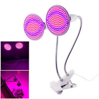 Dual led Plant Grow light bulbs flower Greenhouse lighting with desk clip holder
