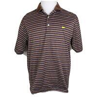 Amen Corner Masters Golf Polo Shirt * Large L * Striped & Golf * Maroon