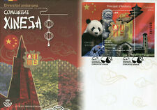 More details for spanish andorra cultures stamps 2020 fdc chinese community giant pandas 1v m/s