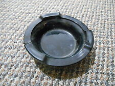 Old Vintage Black Ashtray, Maybe Amethyst Purple Tint - I can't really tell