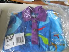 "SYDNEY 2000 OLYMPIC GAMES STAFF UNIFORM PURPLE POLO SHIRT SIZE ""S"" BRAND NEW"
