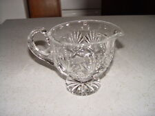 Estate Find Heavy Crystal  Gravy Boat / Pitcher Excellent Condition