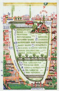 Map of Kew Gardens & Area Edward Bawden print in 11 x 14 mount ready to frame