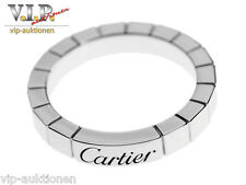 CARTIER LA Bague lanieres Anillo 950 Platino Bodas ALIANZA Wedding Band