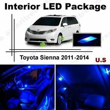 Blue LED Lights Interior Package Kit for Toyota Sienna 2011 - 2014 (11 Pieces)