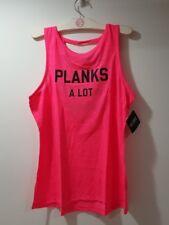 Victoria's Secret PLANKS A LOT PINK Tank Top Sport vsx Shirt Size Large L