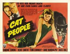 CAT PEOPLE MOVIE POSTER Simone Simon RARE HOT VINTAGE 4