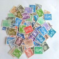 100 Machin Definitive Stamps Kiloware incl Regionals unpicked unsorted off paper