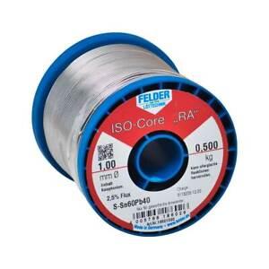 Lötdraht Felder Lötzinn ISO-Core RA, S-SnPb40 Röhrenlot 500g Flussmittel