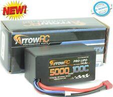ArrowRC 4s 14.8V 5000mah 100C SHORTY Lipo Battery Hardcase w Deans