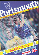 1992/93 PORTSMOUTH V BRENTFORD 23-01-1993 Division 1