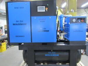 Air-Max 50hp.VSD Industrial Rotary Screw air compressor W/dryer/filters/240 tank