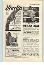 1912 Paper Ad Marlin Big Game Rifle Model 1893 Black Shells U S Cartridge Co