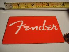 "1 ""FENDER LOGO"". FRIG MAGNET. RED. NEW. guitar case bass amp"