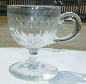 Antique Glass Custard Cup 19th Century