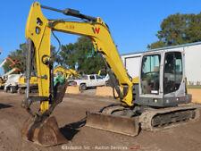 2018 Wacker Neuson Et90 Mini Excavator Rubber Tracks A/C Cab Backhoe bidadoo