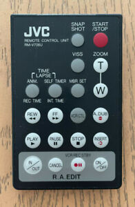 JVC Remote Control Unit RM-V706U Super VHS Camcorder Vintage Vtg Camera Video