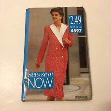 See & Sew 4597 Size 12 14 16 Misses' Dress