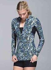 ΩLululemon 1/2 Zip Mock Sport Fit Runbeam Hoody Gym Yoga Jacket Kanga Pocket S 4