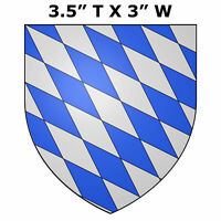 "Bavaria Medieval Coat of Arms 3.5"" Car Truck Window Bumper Sticker Decal"