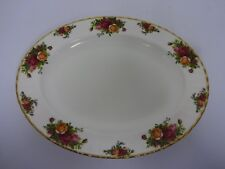 """vintage royal albert old country roses oval china serving plate 13.5"""" meat dish"""