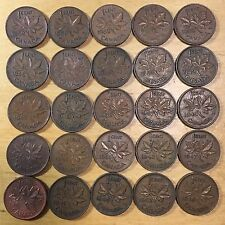 Vintage Canada Small Cents, lot of 50 (Lot 15)