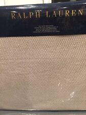 NEW Ralph Lauren Palmer Pale Flannel Full Queen Blanket Free Ship* Ivory Cream