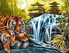 Mammut 8241524 Tiger am Fluss Malen nach Zahlen