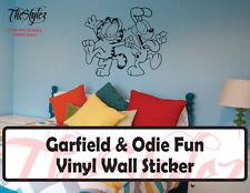 Garfield & Odie Fun Custom Wall Vinyl Sticker