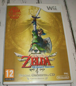 The Legend of Zelda Skyward Sword (Limited Edition) Wii CASE ONLY NO GAME