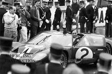 Ford GT40 – McLaren & Amon – winners 24 Hours Le Mans 1966 - photograph