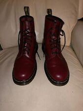 Dr. Martens Lexington Leather Men/Womens Ankle Combat Boots 13M/12W Burgundy