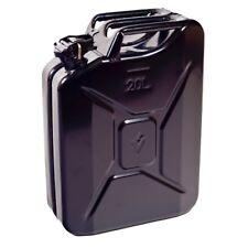 NUOVO 20 LITRI Nero Jerry Militare può olio combustibile acqua benzina serbatoio di stoccaggio Diesel
