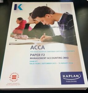 ACCA Paper F2 Management Accounting - Exam Kit 2015 - 2016